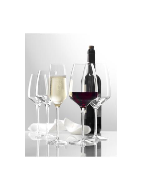 Kristallen champagneglazenset Experience, 6-delig, Kristalglas, Transparant, Ø 6 x H 22 cm