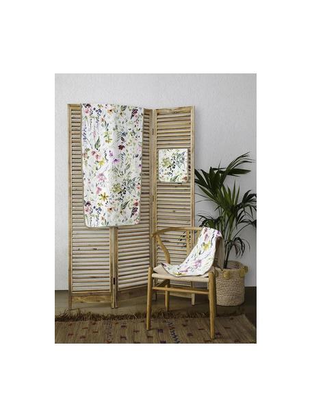 Set de toallas Calm Flowers, 3pas., Parte superior: 100%algodón, Reverso: microfibra de 100%poliés, Multicolor, Set de diferentes tamaños