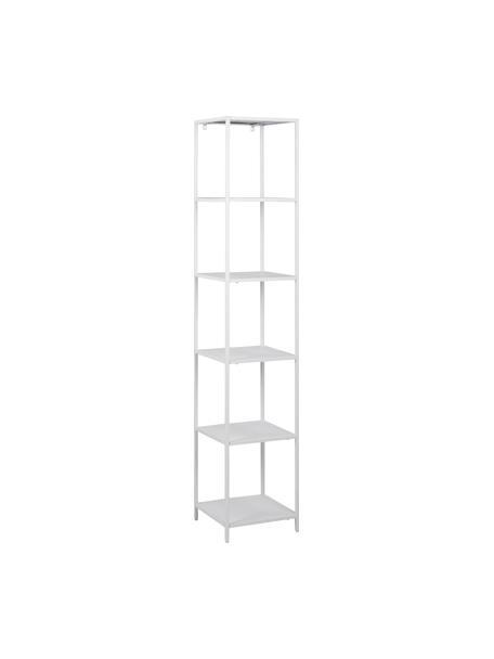 Libreria in metallo bianco Neptun, Metallo verniciato a polvere, Bianco, Larg. 35 x Alt. 181 cm