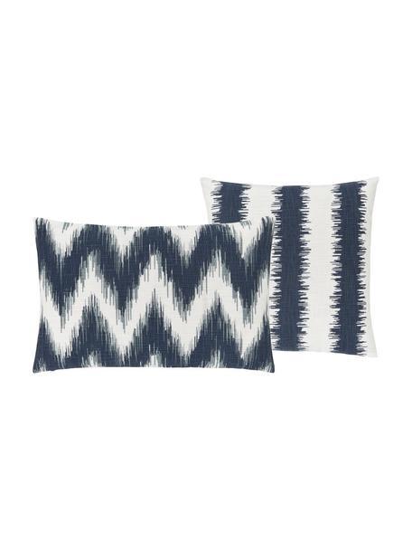 Fundas de cojines Hasan, 2uds., 100%algodón, Azul, An 30 x L 50 cm