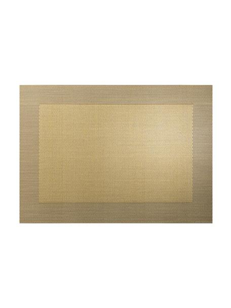 Kunststoff-Tischsets Trefl, 2 Stück, Kunststoff (PVC), Goldfarben, 33 x 46 cm