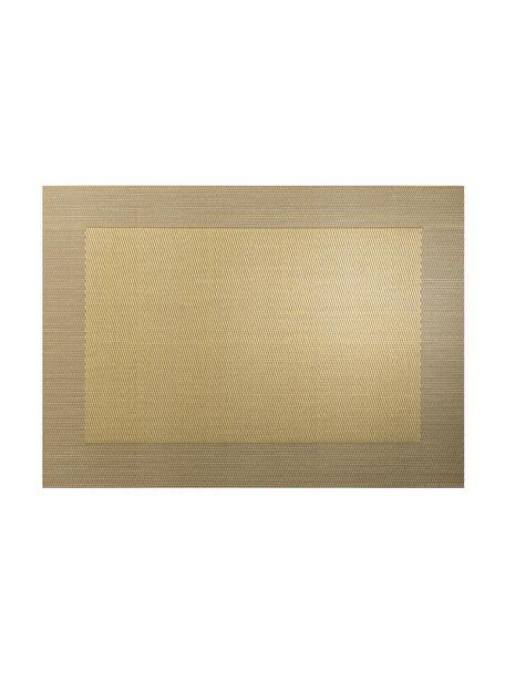 Kunststoffen placemats Trefl, 2 stuks, Kunststof (PVC), Goudkleurig, 33 x 46 cm