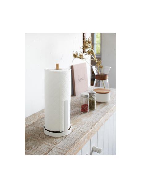 Portarotolo da cucina Tosca, Asta: legno, Bianco, legno, Ø 11 x Alt. 27 cm