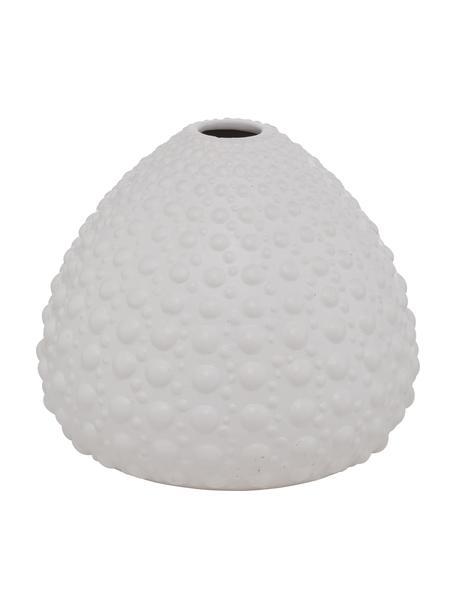 Vaso in gres fatto a mano Bensko, Gres, Bianco, Ø 17 x Alt. 15 cm