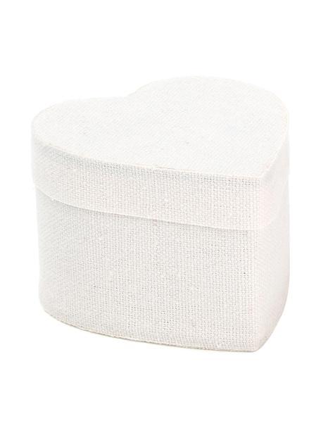 Cajas para regalo Heart, 6uds., Algodón, Blanco, An 5 x Al 7 cm