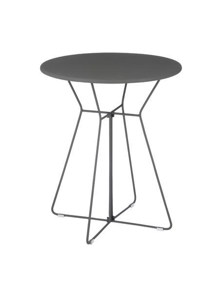 Tavolo da balcone in metallo Bueno, Metallo rivestito, Grigio, Ø 60 x Alt. 70 cm