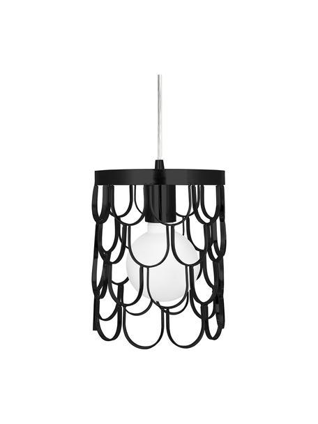 Kleine design hanglamp Gatsby, Zwart, Ø 18 x H 22 cm