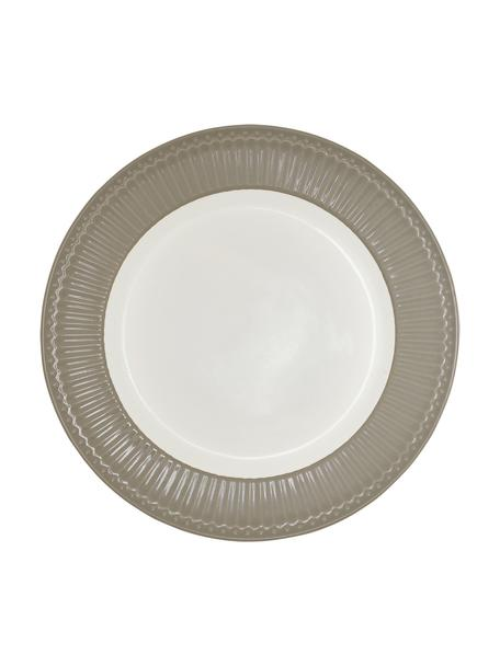 Dinerbord Alice, 2 stuks, Porselein, Grijs, wit, Ø 27 cm