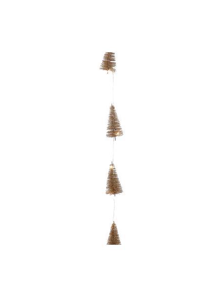 LED slinger Illumination, Metaaldraad, kunststof, glitter, Goudkleurig, L 253 cm