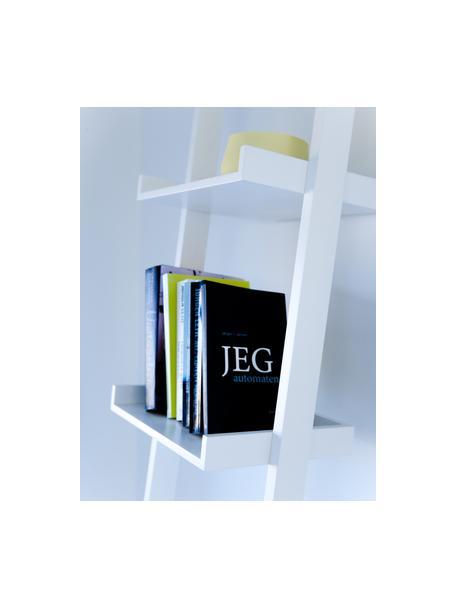 Libreria a scala bianca Wall, Pannello di fibra a media densità (MDF) verniciato, Bianco, Larg. 37 x Alt. 180 cm