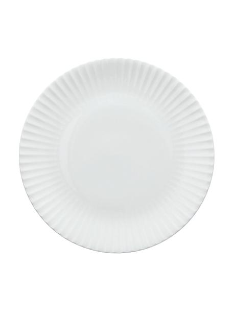 Frühstücksteller Radius aus Porzellan in Weiss, 2 Stück, Fine Bone China (Porzellan) Fine Bone China ist ein Weichporzellan, das sich besonders durch seinen strahlenden, durchscheinenden Glanz auszeichnet., Weiss, Ø 20 cm