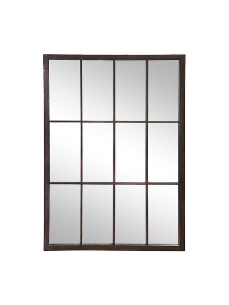 Specchio da parete Zanetti, Cornice: metallo verniciato, Superficie dello specchio: lastra di vetro, Nero, Larg. 50 x Alt. 70 cm
