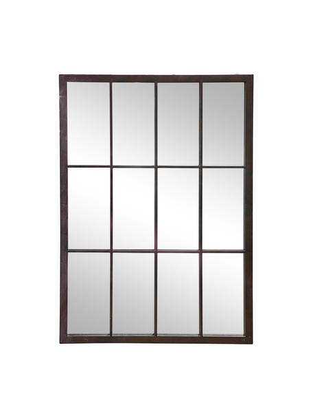 Specchio da parete rettangolare con cornice in metallo nero Zanetti, Cornice: metallo verniciato, Superficie dello specchio: lastra di vetro, Nero, Larg. 50 x Alt. 70 cm