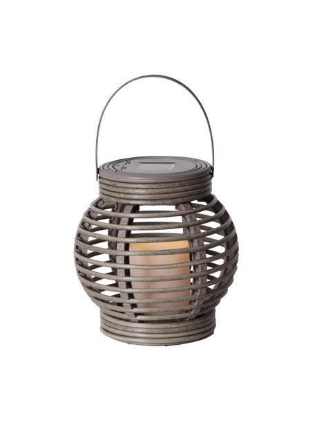 Candela solare a LED Lantern, Struttura: materiale sintetico, Grigio, Larg. 16 x Alt. 16 cm