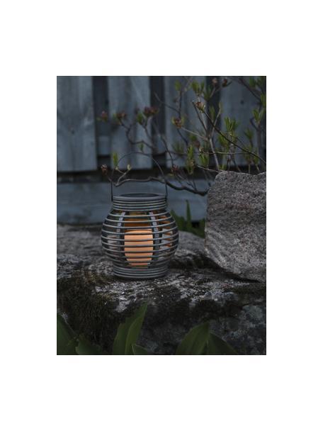 Solar LED kaars Lantern, Grijs, 16 x 16 cm