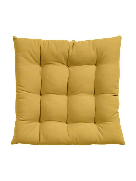 Cojín de asiento Ava, Funda: 100%algodón, Amarillo, An 40 x L 40 cm