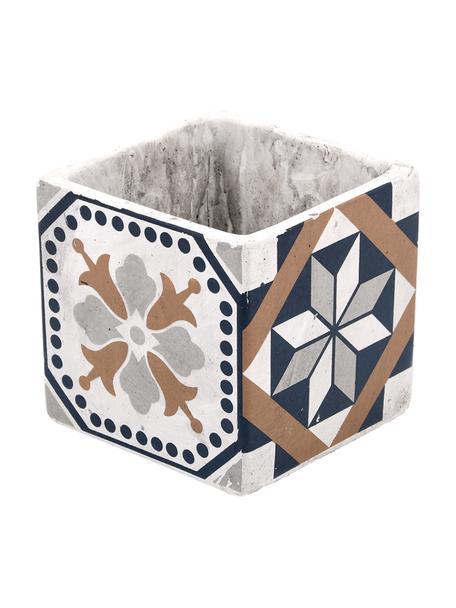 Portavaso quadrato in cemento Portugal, Cemento, Multicolore, Larg. 11 x Alt. 11 cm