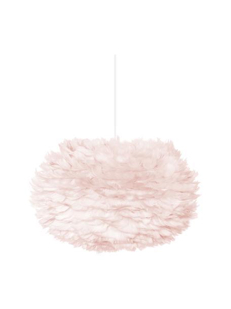 Lampada a sospensione in piume Eos, Paralume: piume d'oca, tessuto, Baldacchino: materiale sintetico, Rosa chiaro, Ø 45 x Alt. 30 cm