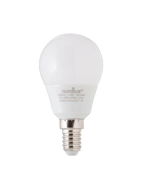 E14 Leuchtmittel, 3.5W, warmweiß, 5 Stück, Leuchtmittelschirm: Opalglas, Leuchtmittelfassung: Aluminium, Weiß, Ø 5 x H 9 cm