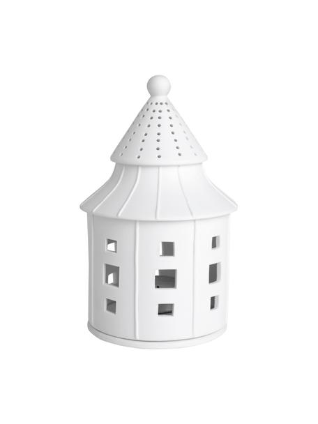Porzellan-Lichthaus Living in Weiß, Porzellan, Weiß, Ø 11 x H 17 cm