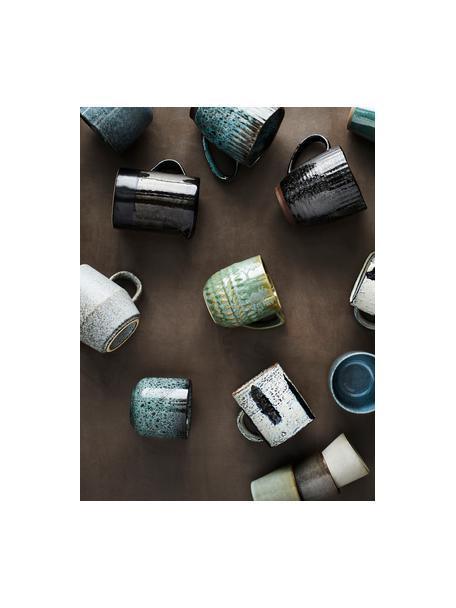 Tazza senza manico Vingo 2 pz, Terracotta, Blu verde, nero, Ø 9 x Alt. 8 cm