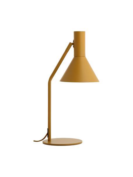 Schreibtischlampe Lyss in Senfgelb, Lampenschirm: Metall, beschichtet, Lampenfuß: Metall, beschichtet, Senfgelb, Weiß, 26 x 50 cm