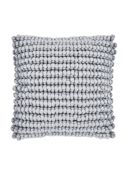 Poszewka na poduszkę z widoczną strukturą Iona, Jasny szary, S 45 x D 45 cm