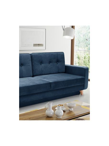 Sofa z funkcją spania i miejscem do przechowywania Tokio (2-osobowa), Tapicerka: 100% poliester, Ciemny niebieski, S 228 x G 89 cm