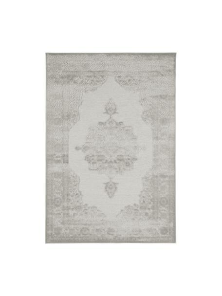 Viskoseteppich Willow mit erhabenem Vintagemuster, glänzend, Flor: 100% Viskose, Hellgrau, B 80 x L 125 cm (Größe XS)