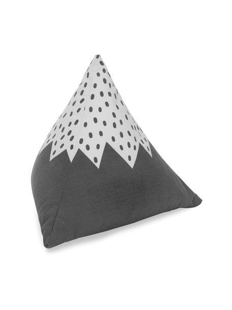Bodenkissen Mountain aus Bio-Baumwolle, Bezug: 100% Biobaumwolle, Grau, gebrochenes Weiß, 50 x 50 cm