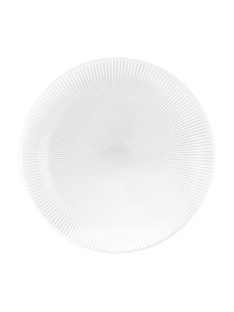 Glazen dinerborden Nola met groefreliëf, 2 stuks, Glas, Transparant, Ø 32 cm