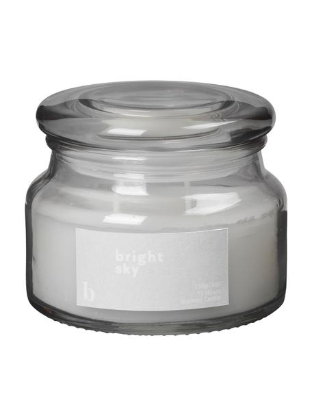 Candela profumata Bright Sky (floreale), Contenitore: vetro, Grigio, Ø 10 x Alt. 8 cm