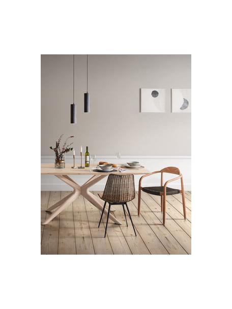Esstisch Armande aus Eichenholz, Eichenholz, gewachst, weiss lackiert, Eichenholz, B 180 x T 90 cm