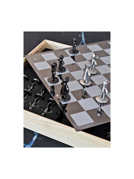 Szachy Buddy, 33 elem., Pudełko: drewno jesionowe Szachownica: tytan Figury: nikiel, tytan, S 33 x W 4 cm