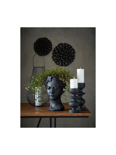 Osłonka na doniczkę Head, Beton lakierowany, Czarny, S 17 x W 26 cm