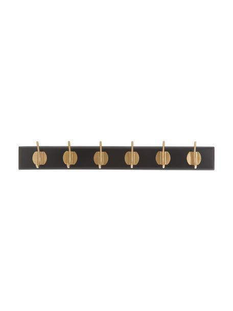 Ganci appendiabiti in metallo Aoife, Asta: pannelli di fibra a media, Nero, Larg. 60 x Alt. 7 cm