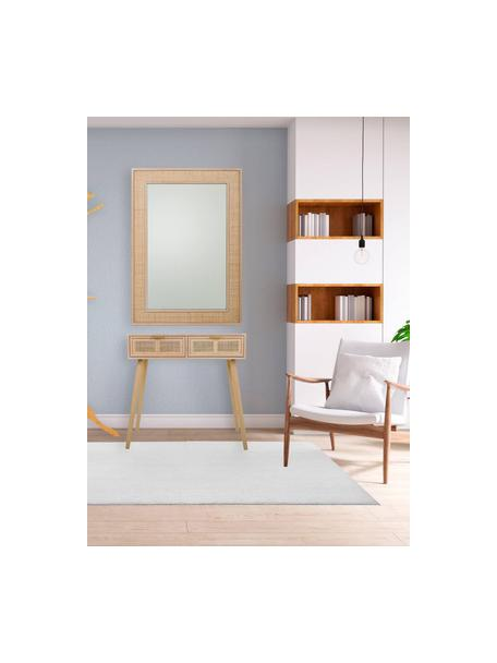 Wandtafel Cayetana van hout, Frame: gefineerd MDF, Handvatten: metaal, Poten: gelakt bamboehout, Bruin, 80 x 79 cm