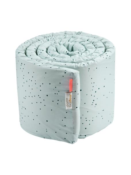 Bettnestchen Dreamy Dots, Bezug: 100% Baumwolle, Oeko-Tex-, Matratze: 100% PU-Schaumstoff, Blau, 30 x 350 cm