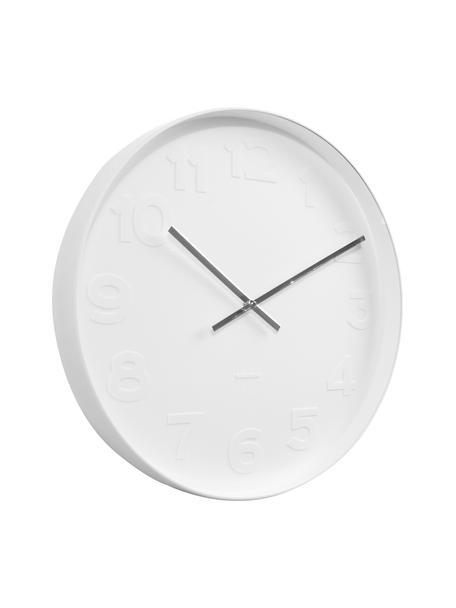 Orologio da parete Mr. White, Quadrante, cornice: bianco Puntatore: argento, Ø 38 cm