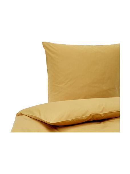Pościel z perkalu Elsie, Żółty, 135 x 200 cm + 1 poduszka 80 x 80 cm