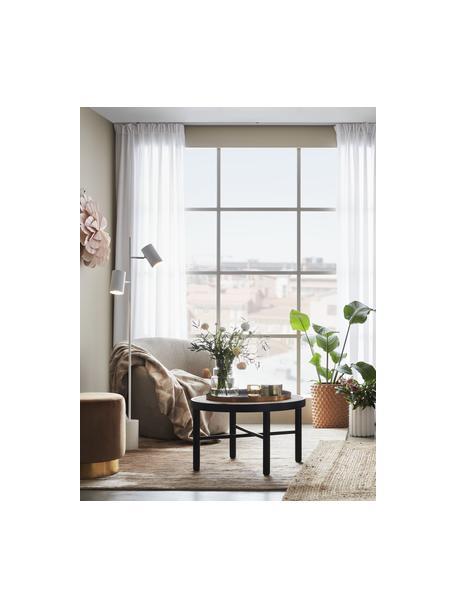 Leeslamp Twin in wit, Lampenkap: metaal, Lampvoet: metaal, Decoratie: metaal, Wit, 34 x 144 cm