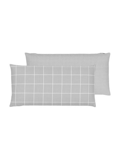 Flanell-Wendekissenbezüge Noelle in Grau, 2 Stück, Webart: Flanell Flanell ist ein k, Grau, 40 x 80 cm