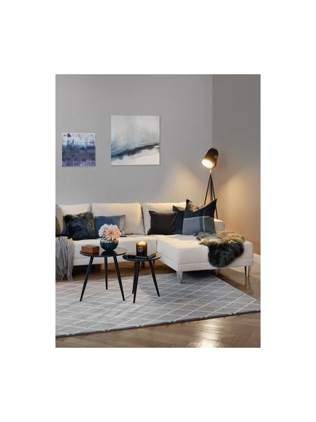 Set de mesas auxiliares Colette, 2uds., Patas: metal, pintura en polvo, Tablero: fibras de densidad media , Negro, Set de diferentes tamaños