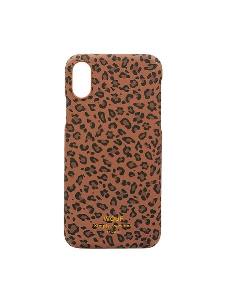 Funda para iPhone X Savanna, Silicona, Marrón, negro, An 7 x Al 15 cm