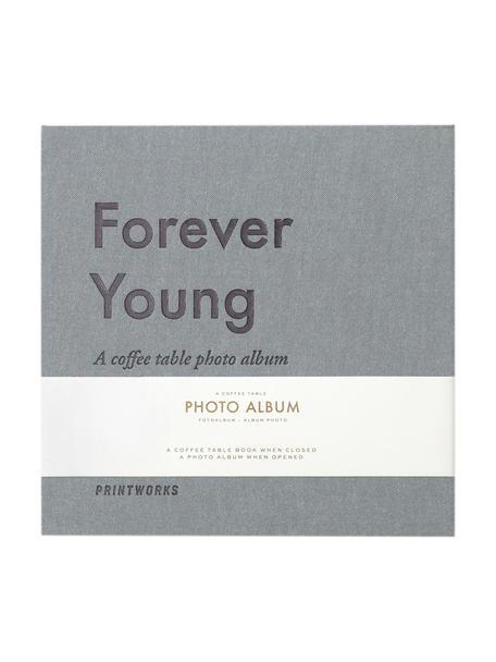 Album fotografico Forever Young, Grigio, blu, bianco, nero, Lung. 25 x Larg. 25 cm