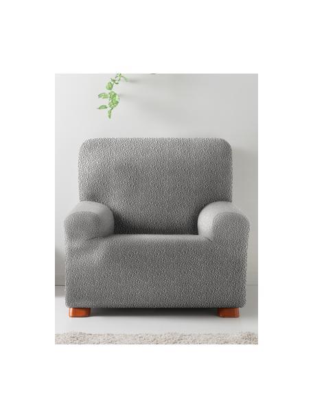 Pokrowiec na fotel Roc, 55% poliester, 35% bawełna, 10% elastomer, Szary, S 130 x W 120 cm