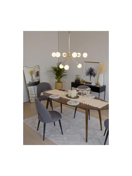 Lámpara de techo grande Space, Anclaje: metal latón, Cable: cubierto en tela, Dorado, An 81 x F 71 cm