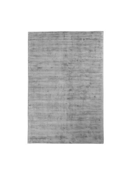 Handgewebter Viskoseteppich Jane in Grau, Flor: 100% Viskose, Grau, B 200 x L 300 cm (Größe L)
