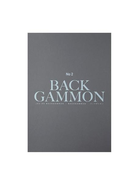 Juego de Backgammon, Papel, acrílico, Gris, negro, turquesa, blanco, Ancho 31 x Alto 5 cm