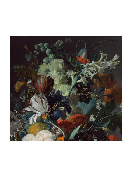Fototapete Oil Painted Flowers Dark, Vlies, Mehrfarbig, 300 x 280 cm